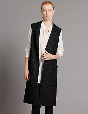 Sleeveless Jackets with Wool