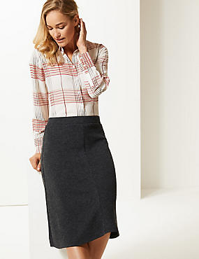 Knitted Skirt , CHARCOAL, catlanding