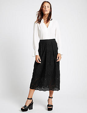 Pure Cotton A-Line Skirt
