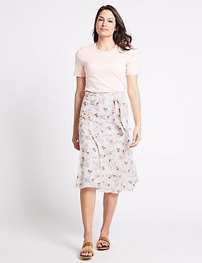 White A Line Skirt Skirts | M&S