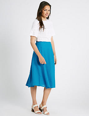 Burnout A-Line Midi Skirt
