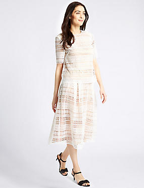 Cream A Line Skirt Skirts | M&S