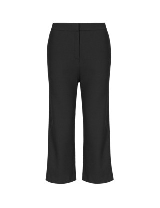 Crêpe Cropped Trousers Clothing