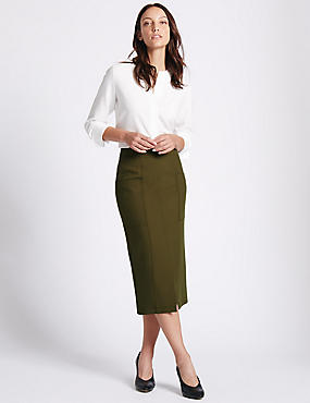 Green Midi Skirts | M&S