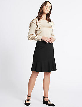 Ruffle A-Line Mini Skirt