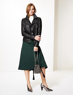 Midi Skirt , PINE GREEN, catlanding