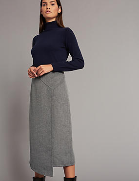 Double Face A-Line Midi Skirt