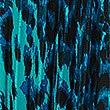Animal Print Pleated Midi Skirt, BLUE MIX, swatch