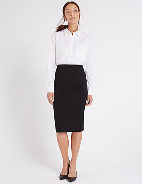 Spotted Pencil Skirt