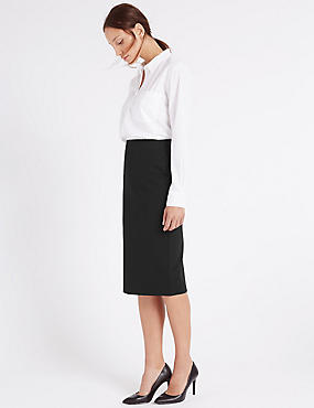 Womens Knee Length Skirts | Long Pencil & A Line Skirts | M&S