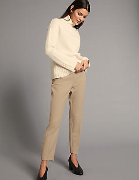 Slim Leg Trousers, MEDIUM BEIGE, catlanding