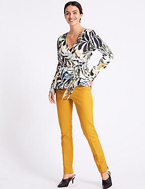 Cotton Rich Slim Leg Trousers , OCHRE, catlanding