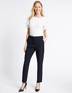 Spotted Slim Leg Trousers