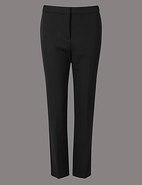 Slim Leg Trousers , BLACK, catlanding