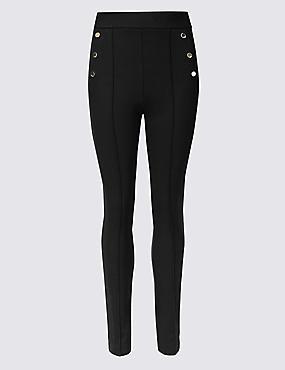 Skinny Leg Trousers, BLACK, catlanding
