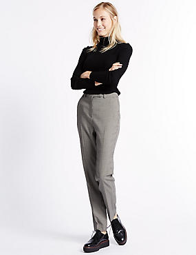 Textured Slim Leg Trousers