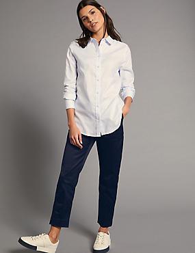 Supima Cotton Rich Split Hem Trousers. Autograph