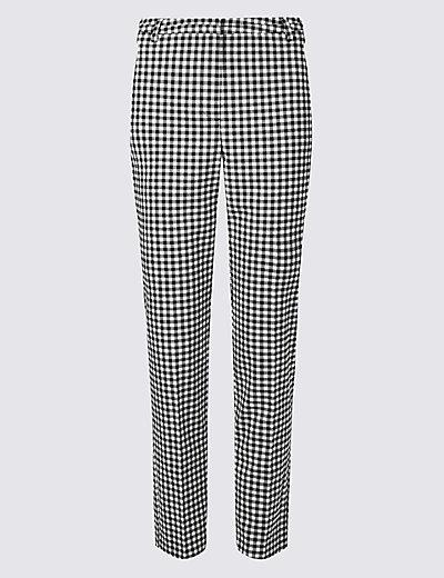 gingham slim leg trousers mamps