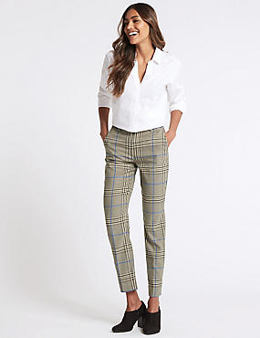Multi Checked Trousers