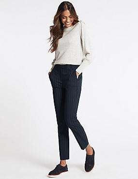 Striped Slim Leg Trousers