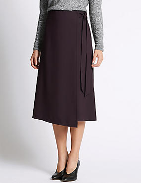 Wrap Stitch A-Line Skirt