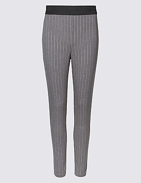 Pin Stripe Skinny Leg Trousers