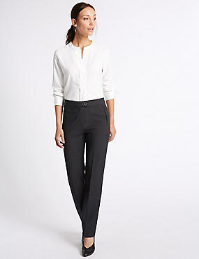 Twill Straight Leg Trousers