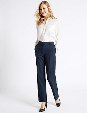 Embossed Straight Leg Trousers