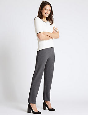 Design Ponte Striped Straight Leg Trousers