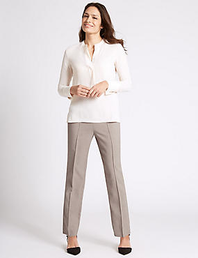 Cross Hatch Straight Leg Trousers
