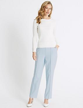Straight Leg Trousers, ICE BLUE, catlanding