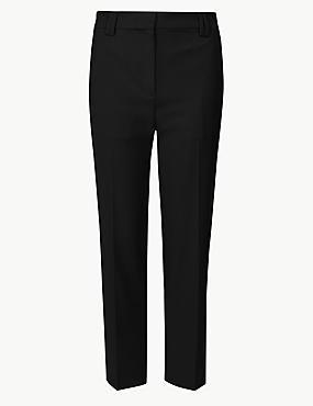 PETITE Straight Leg Trousers, BLACK, catlanding