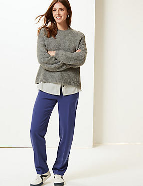 Relaxed Straight Leg Trousers, ULTRAVIOLET, catlanding