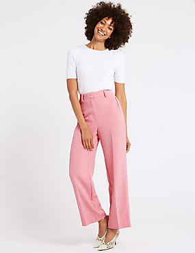 Ankle Grazer Straight Leg Trousers