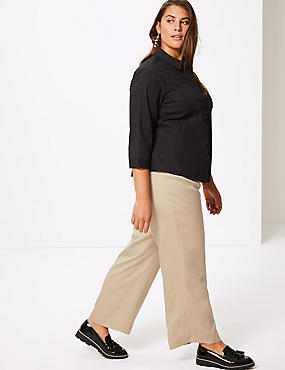 CURVE Wide Leg Trousers , BISCUIT, catlanding