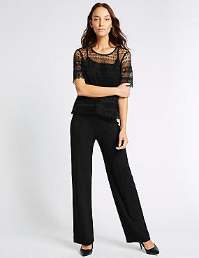 Ponte Wide Leg Trousers