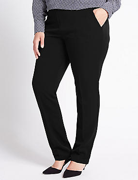 PLUS Modern Slim Leg Trousers