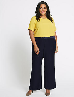 CURVE Satin Wide Leg Trousers