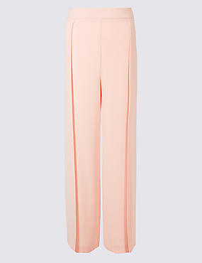 Side Split Wide Leg Trousers