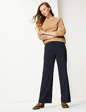 Pablo Wide Leg Trousers, DARK NAVY, catlanding