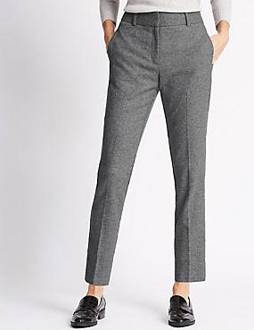 Luxury Slim Leg Trousers with Wool