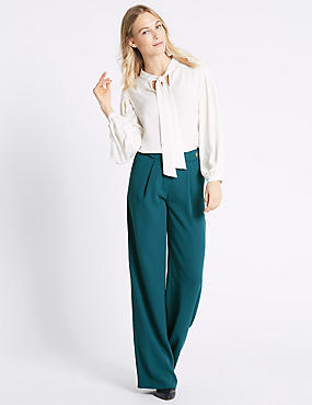 Waist Button Pleated Trousers