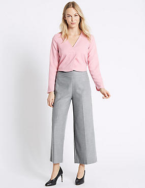 Flannel Flat Front Trousers