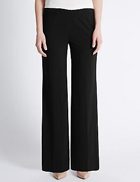 Front Pocket Wide Leg Trousers