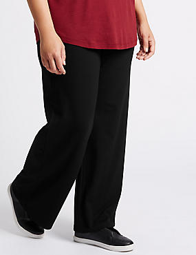 PLUS Jersey Wide Leg Trouser