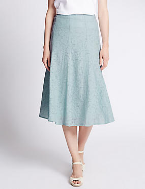 Tailored Fit Burnout A-line Skirt