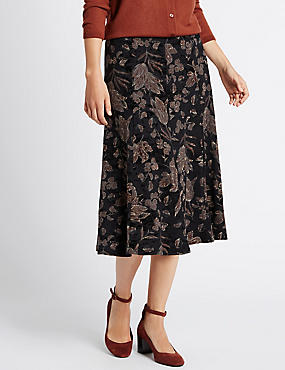 Tailored Fit Flocked Skirt