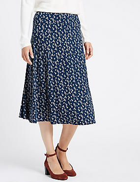 Ditsy Jersey Skirt