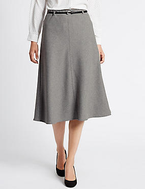 Tailored Fit A Line Skirt