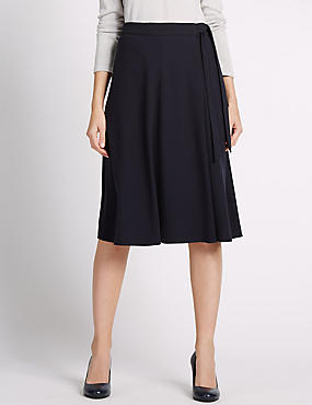 Tailored Fit Straight Skirt